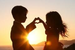 bambini, amore, limite, innamorato